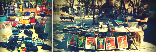 Antiek vintage rommelmarkt